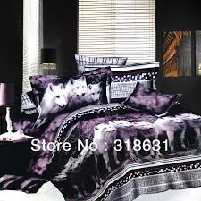 wolf comforter design bedroom ideas with fox dog printed bed sets 3d oil painting duvet