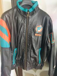 men s leather jacket nfl