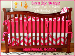 the sweet jojo designs chevron pink white crib bedding set review