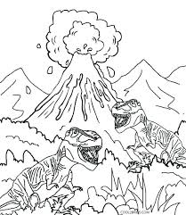 Dinosaur Coloring Pages Pdf Coloring Pages Coloring Pages Volcano