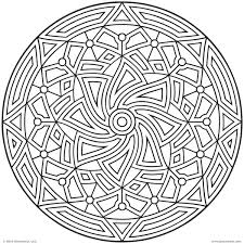 Small Picture Images Of Printable Hard Geometric Coloring Pages And Coloring