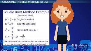 method to solve quadratic equations