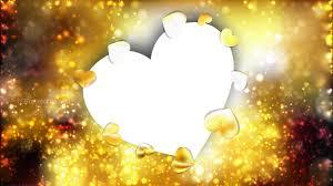 Gold Heart Wallpaper Background