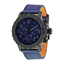 nautica nms 01 navy blue dial men s chronograph watch nai21005g