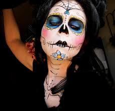 pull your hair out of the way wash and moisturize you face prior to putting on day of the dead makeup instructionsday