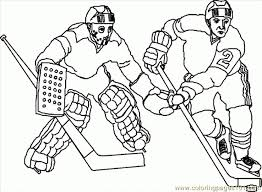 Small Picture hockey sticks with puck coloring page sports blackhawks chicago