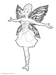Small Picture Barbie Mariposa and The Fairy Princess coloring pages for girls