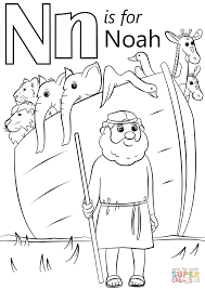 letter n is for noah coloring page free printable pages