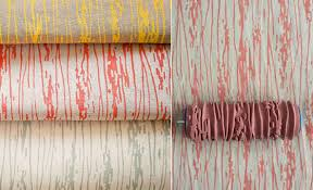 Patterned Paint Rollers Cool Patterned Paint Rollers Create Classic Wallpaper Via Painting
