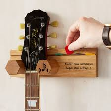 personalised solid oak guitar wall stand