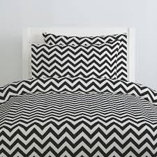 black and white zig zag duvet cover