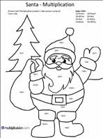 This color by number picture can then be printed, and then colored with paint, crayons or colored pencils. Free Christmas Multiplication Coloring Worksheets Multiplication Com
