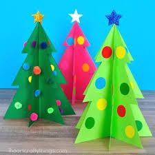 Printable Christmas Tree Colorful 3d Christmas Tree Craft