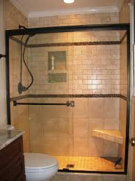 ideas bathroom tile color cream neutral: amazing neutral stones pattern marble shower wall tiled added chrome head and niche designs