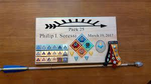 Arrow Of Light Display Plaque Pin On The Hamlin Woodshop