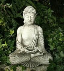 buddha cast stone sitting meditating