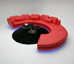 Rund Sofa Couch Polster Garnitur Wohnlandschaft Design Ecksofa Le