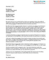 Image Of Resignation Letter Post Maternity Leave After Maternity