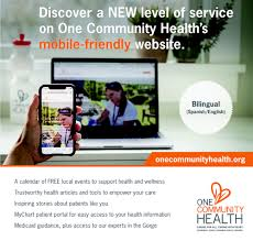 Access Community Health My Chart One Community Health Unveils New Mobile Friendly Website
