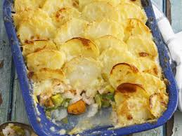 Potato Topped Seafood Bake recipe