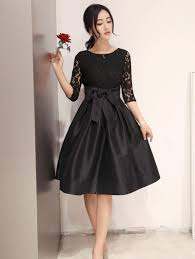 Fashion New Style Casual Stitching Slim Slim Delicate Lace Dress