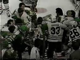 Shane Churla vs Wayne Van Dorp / <b>Minnesota North Stars</b> vs ...