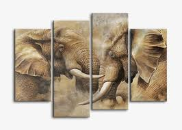banmu canvas wall art painting prints on canvas 4 panel large vintage sepia african elephant giclee on african elephant canvas wall art with banmu canvas wall art painting prints on canvas 4 panel large