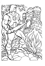 He Man Coloring Pages Sketch Coloring