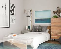Furniture for a small bedroom White Small Bedroom Ideas Add Cool Clear Furniture Modsy Blog Small Bedroom Ideas Archives Modsy Blog