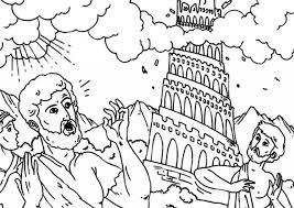 Small Picture Tower Of Babel Coloring Pages Annexhub pertaining to Tower Of