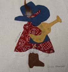 Nifty Fifty Quilters of America Sunbonnet Sue 50 State Quilt Block ... & oklahoma sunbonnet sue quilt block Adamdwight.com