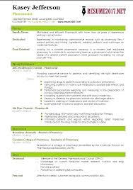 Objective For Pharmacy Resume Hospital Pharmacist Resume Australia For Sample Pharmacy Objective