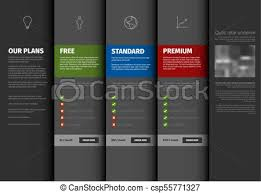Pricing Template For Services Product Service Pricing Comparison Table Template