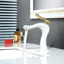2019 bath basin faucets brass water tap bathroom faucet gold white single handle bathroom sink mixer taps hot and cold water w3034 from hongheyu