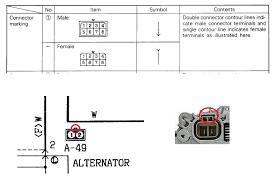 4d56 alternator wiring diagram 4d56 wiring diagrams online description top one shows how to the pin numbers of a socket and bottom you can see the alternator socket symbol in the circuit diagram and the