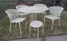 iron patio furniture. VINTAGE Wrought Iron Patio Garden Dining Set With Side Table 6 Pc Woodard  Style Iron Patio Furniture