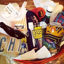 wele to chicago gift basket portillos revolutionbrewery blackhawks cubs bears