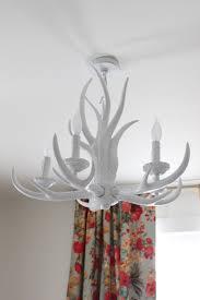 modern white antler chandelier