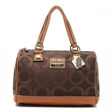 Coach Legacy Logo In Monogram Large Coffee Luggage Bags BQR
