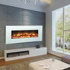 China Modern Wall-mounted Electric Fireplace with White Color