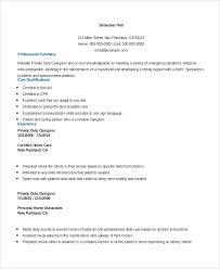 Sample Caregiver Resume Gorgeous Resume Sample For Caregiver