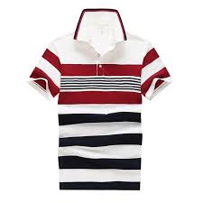 striped new summer polo2018 shirt men black red tees cotton business casual regular fit summer tops