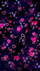 WhatsApp Hearts, bubbles, dark, heart ...