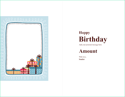 Word Gift Card Template Easy Gift Certificate Template Word 2003 Of Birthday Gift Card