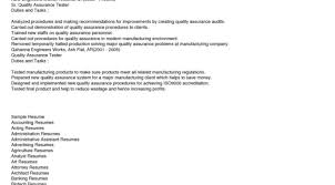 Quality Assurance Resume Examples Resume Template