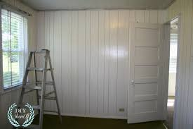 painted stenciled paneled walls diy