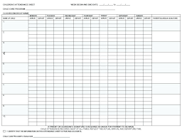 Printable Attendance Sheet Weekly Formal Likeness Preschool Free