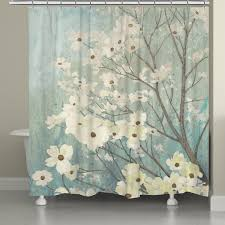 laural home flowering dogwood blossoms shower curtain 71 inch x 74 inch