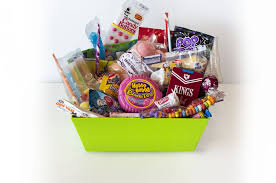 our candyrama basket brings together old favorites like candy ons wax s marshmallow ice cream cones and candy cigarettes with cur