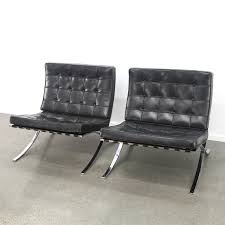 van der rohe furniture. 2 X Barcelona Lounge Chair By Ludwig Mies Van Der Rohe For Knoll International, 1990s Furniture